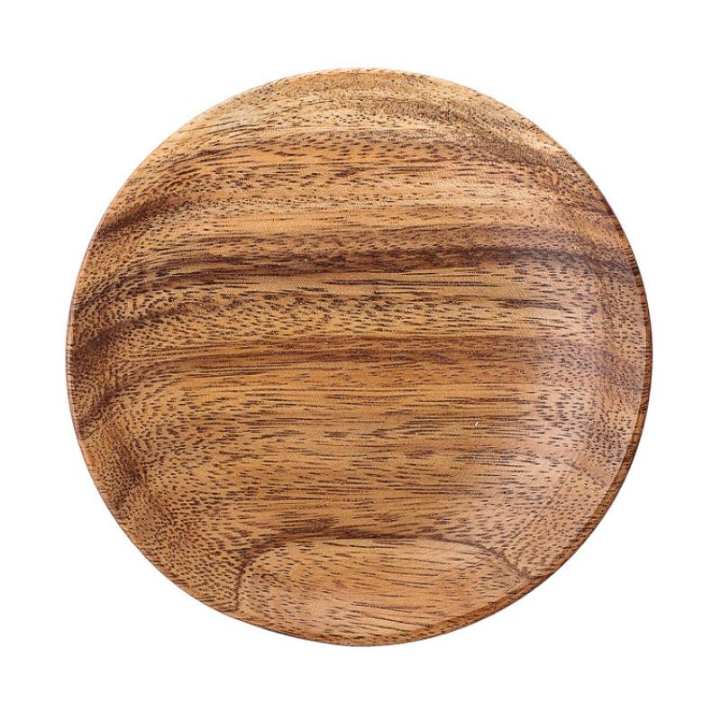Bloomingville Teller Holz rund 12 cm aus Akazienholz 4er Set Detail