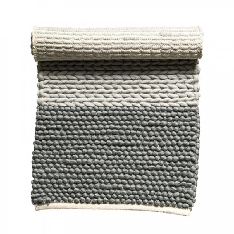 Bloomingville Teppich Wolle grau