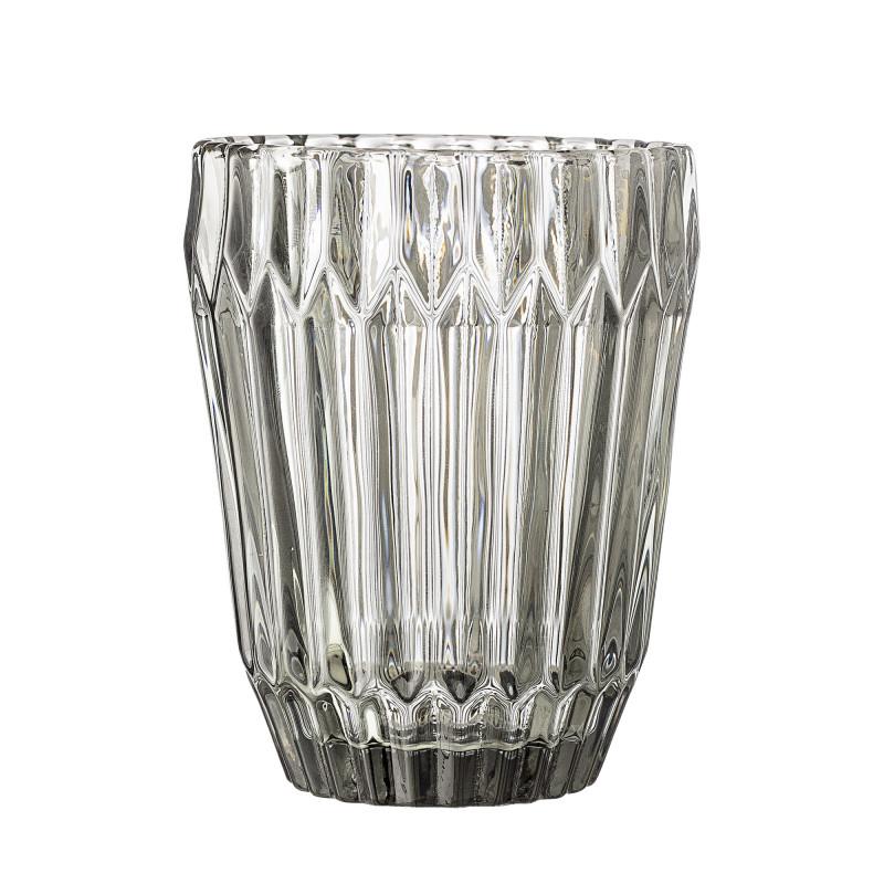 Bloomingville Trinkglas Grau 230 ml schweres Glas