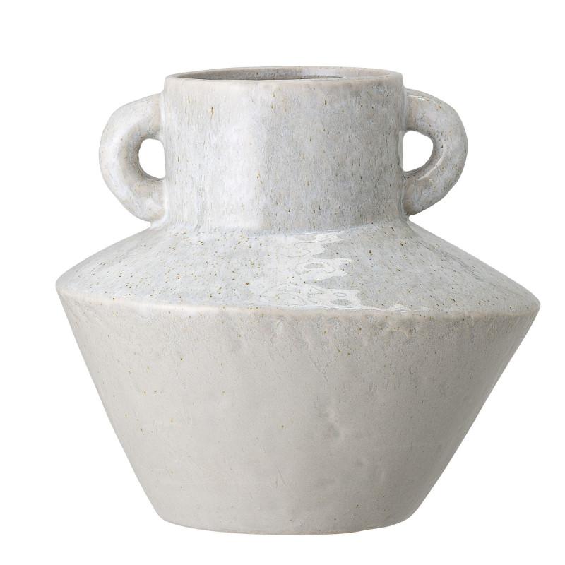 Bloomingville Vase Amphore Grau mit 2 Henkeln 20 cm Keramik Blumenvase Bloomingville Produkt Nummer 82047438