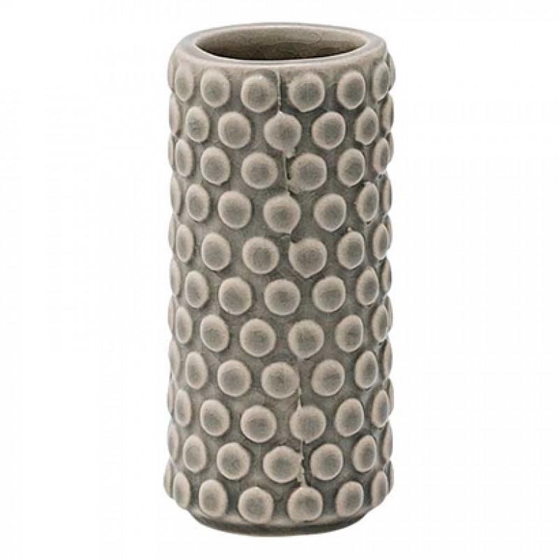 Bloomingville Vase Bubble grau Keramik 9 cm hoch