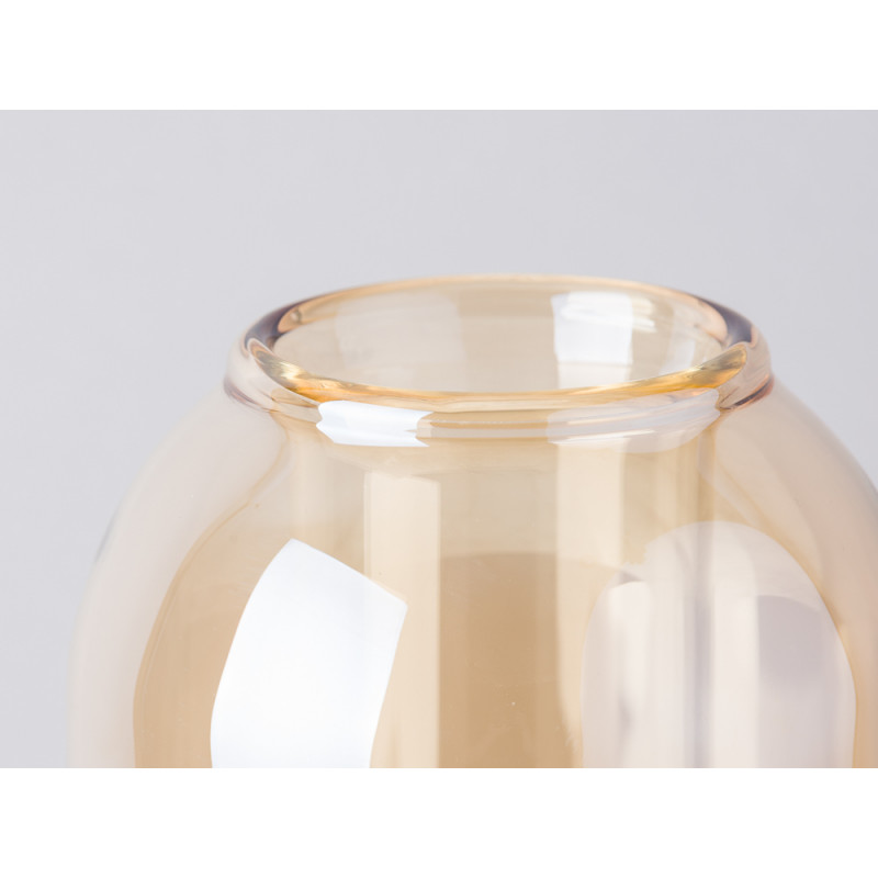 Bloomingville Vase Glas Dom braun beige Detailaufnahme