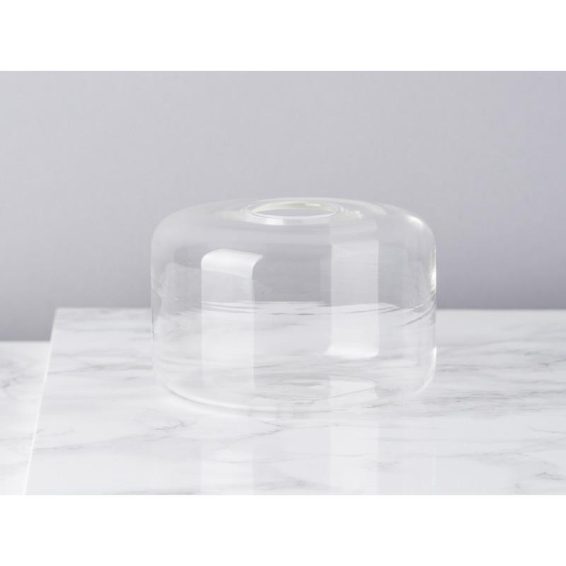 Bloomingville Vase Glas Weiß Blumenvase Zylinder 65 mm hoch Durchmesser 10 cm rund Design Modern