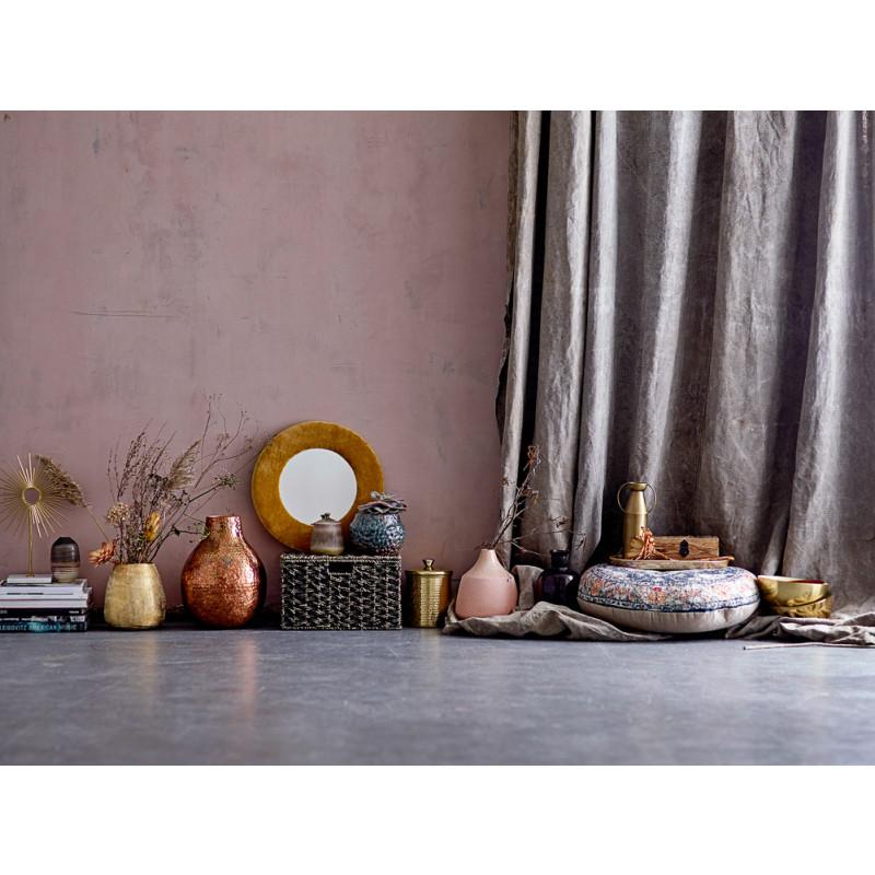 Bloomingville Vase Gold mit Henkeln schlank Blumenvase aus messing mit Griffen Deko Inspiration
