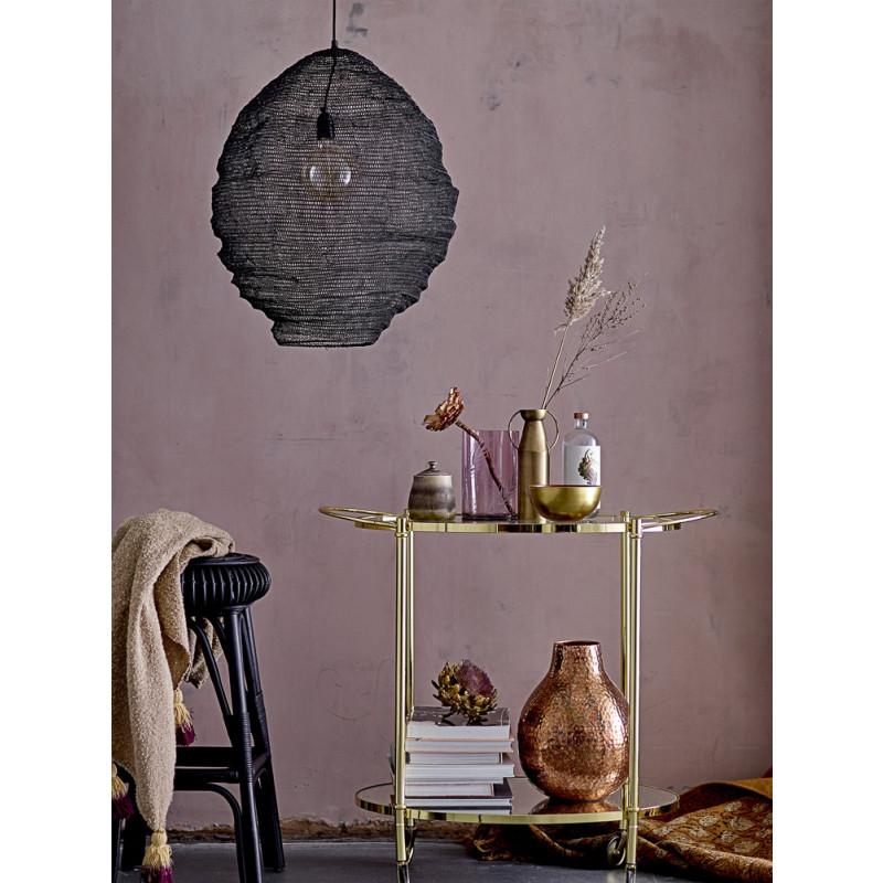 Bloomingville Vase Gold mit Henkeln schlank Blumenvase aus messing mit Griffen Dekoration golden