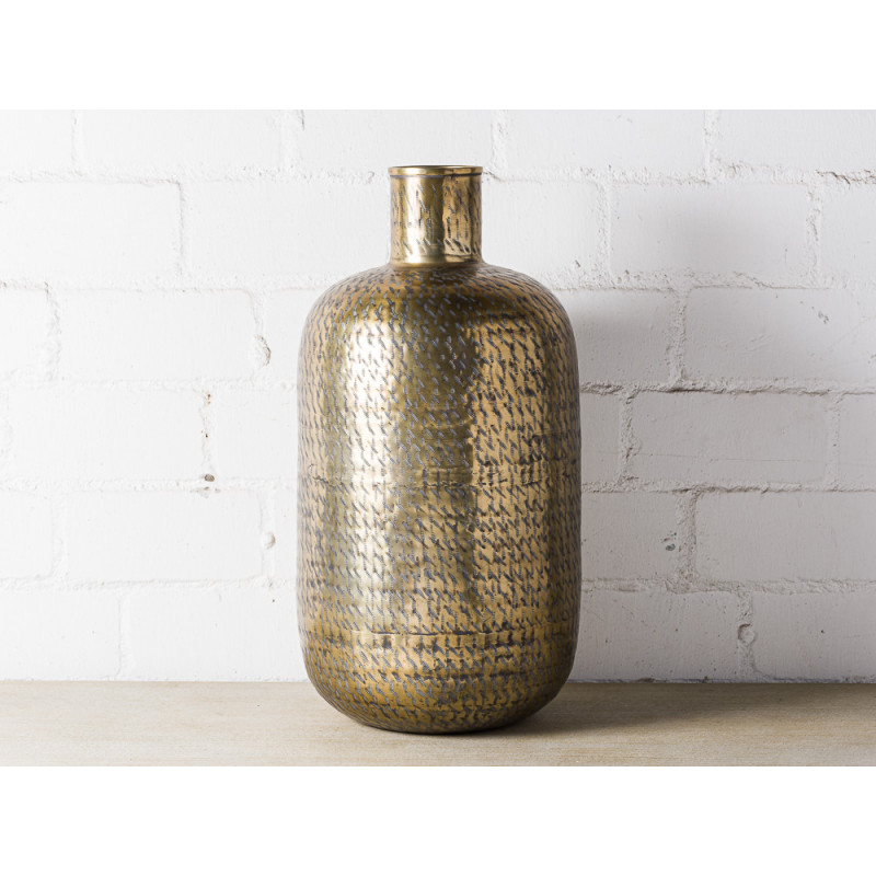 Bloomingville Vase Gold XL 65 cm groß Blumenvase aus Messing Metall als Bodenvase Dekoration