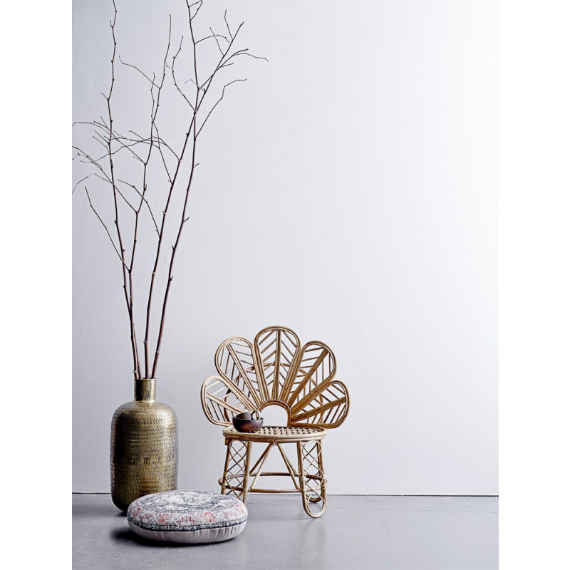 Bloomingville Vase Gold XL 65 cm gross Blumenvase als Bodenvase mordern skandinavisch Dekoration