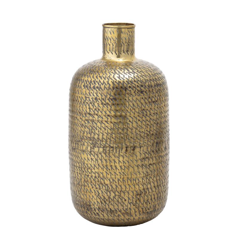 Bloomingville Vase Gold XL 65 cm groß Blumenvase aus messing metall als Bodenvase