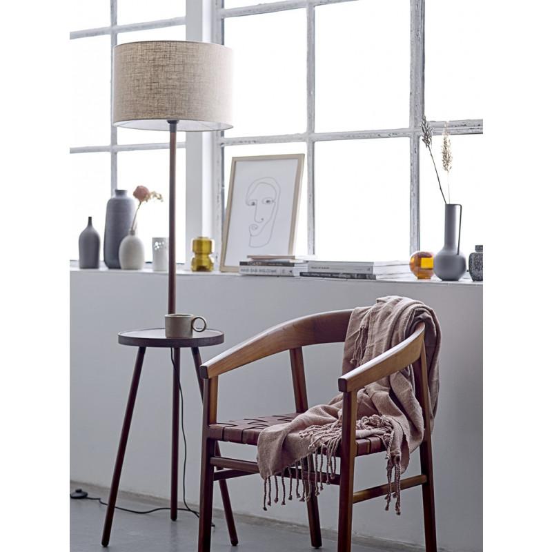 Bloomingville Vase Grau aus Metall 25 cm hoch Blumenvase mit Henkel Fensterbank Deko