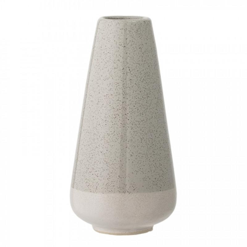 Bloomingville Vase grau creme konisch Keramik