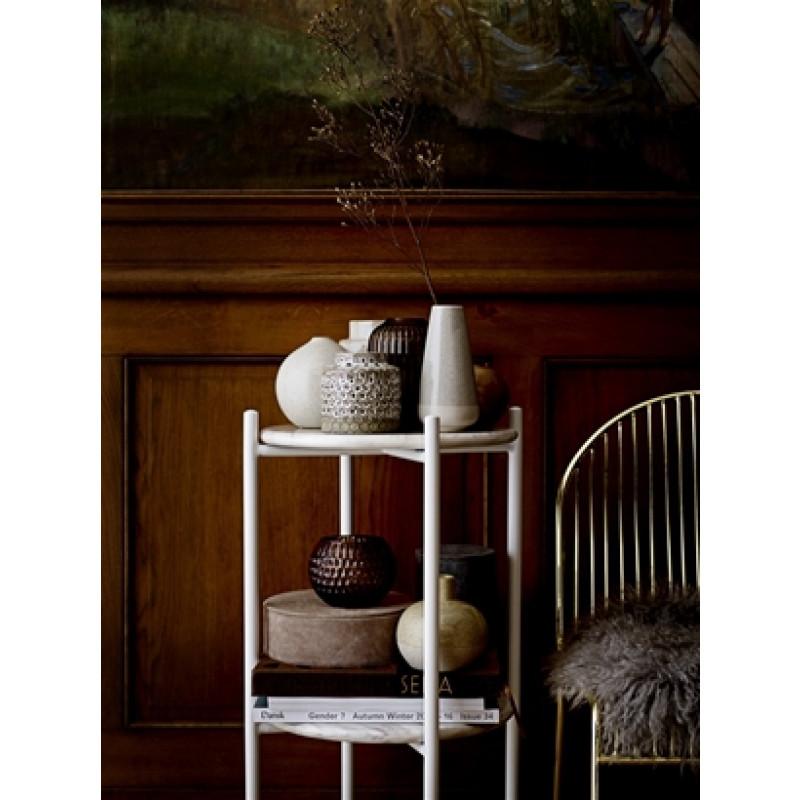 Bloomingville Vase hellgrau creme 16 cm groß