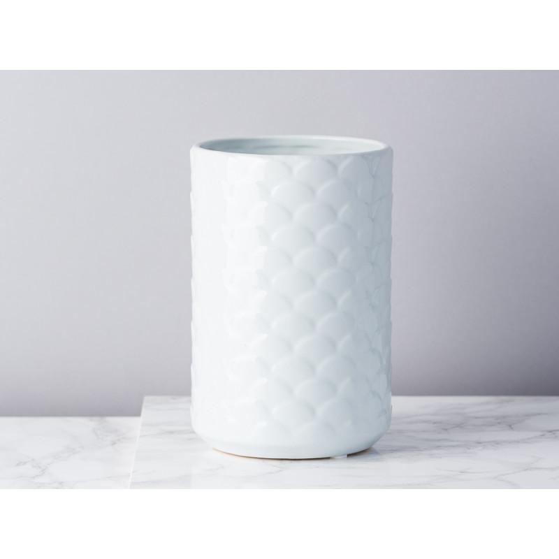 Bloomingville Vase Ice blau hellblau Keramik 17 cm hoch Blumenvase