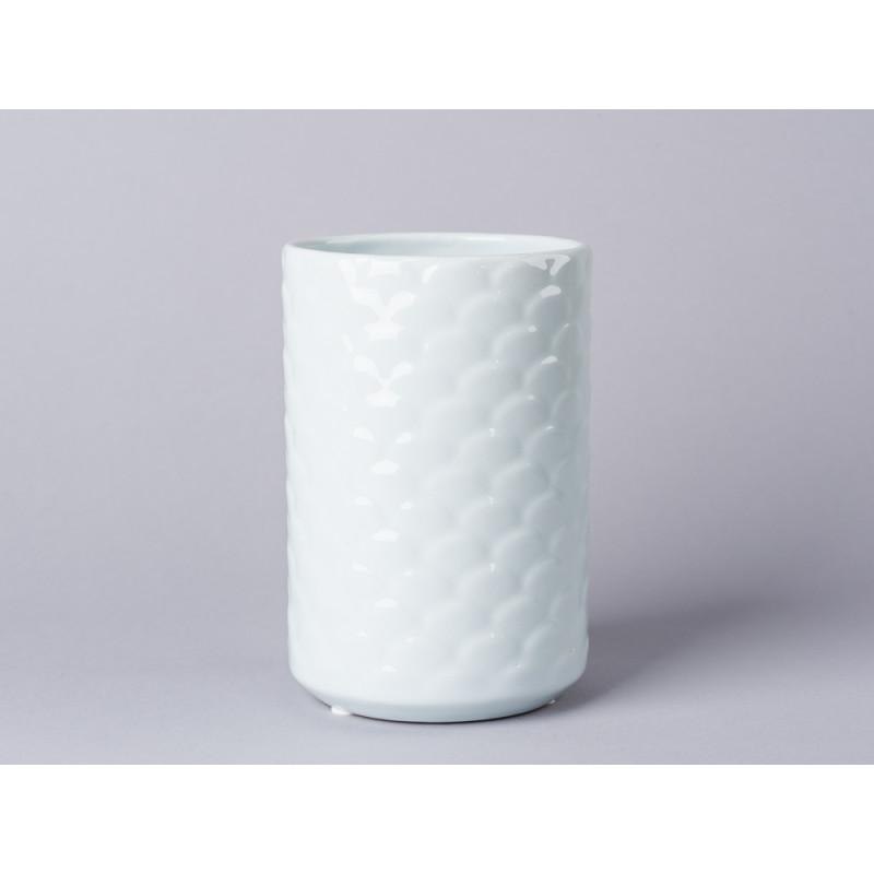 Bloomingville Vase Ice Blue aus Keramik in blau weiß