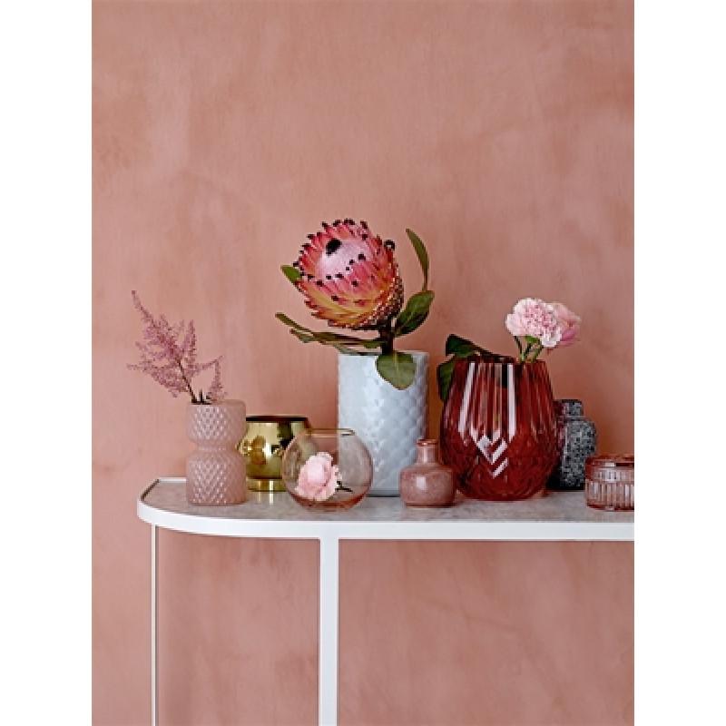 Bloomingville Vase rot Glas Ice blau und Blumenvase schwarz grau