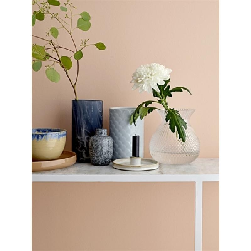 Bloomingville Vase schwarz weiss Keramik und Blumenvase Ice blau
