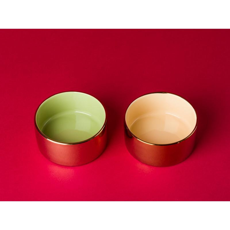 Bloomingville Votive Kerzenhalter gold grün und gold orange Teelichthalter