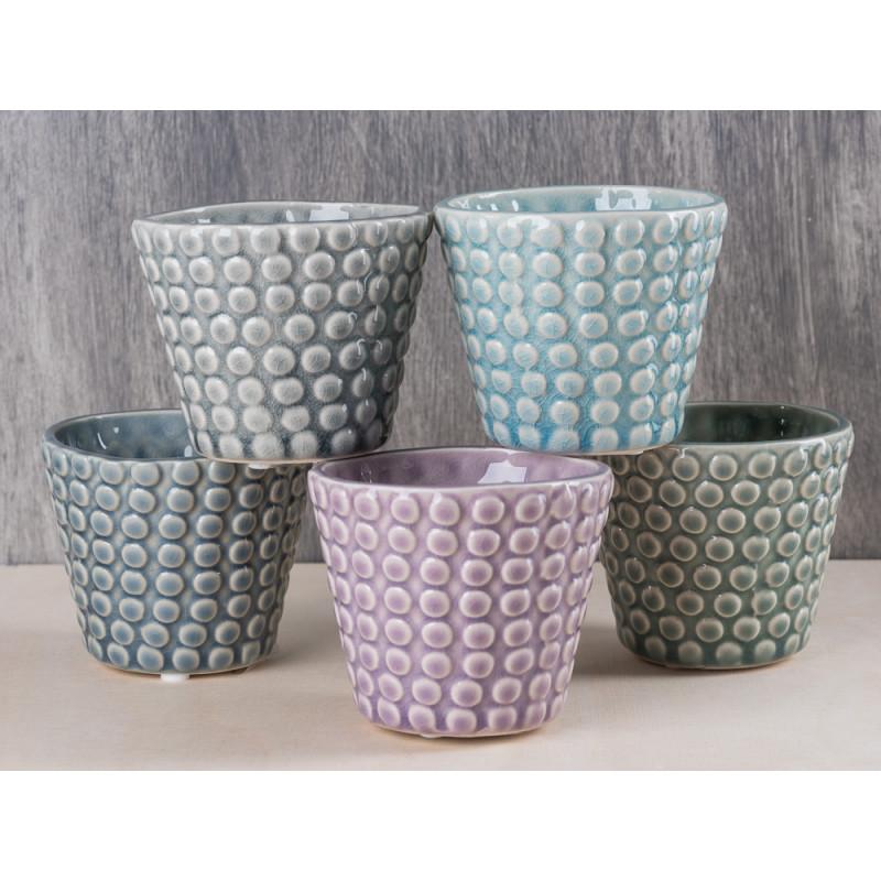 bloomingville votive dots kerzenglas aus porzellan gr n grau f r votivkerze oder teelicht h he. Black Bedroom Furniture Sets. Home Design Ideas