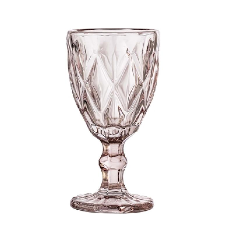 Bloomingville Weinglas rosa Glas für 300 ml