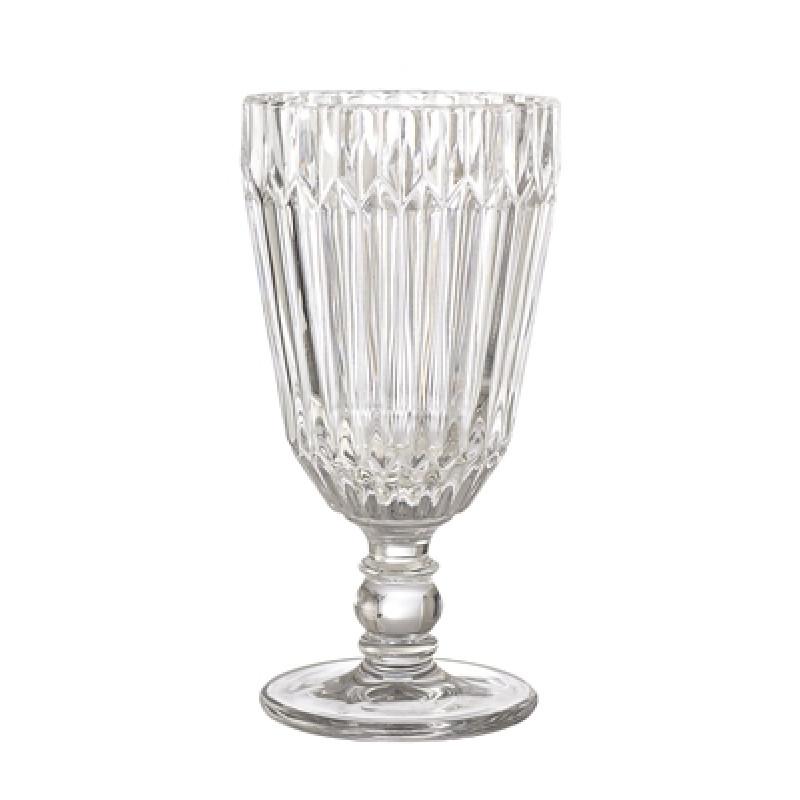 Bloomingville Weinglas Weiß 210 ml Trinkglas Höhe 16 cm