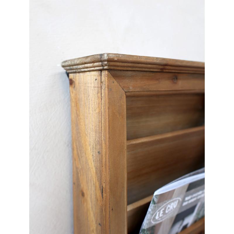 Chic Antique Post Sortierschrank aus Holz mit Fliegengitter altfranzösischer Landhaus Design Wandschrank mit Brief oder Zeitschrift Anlage