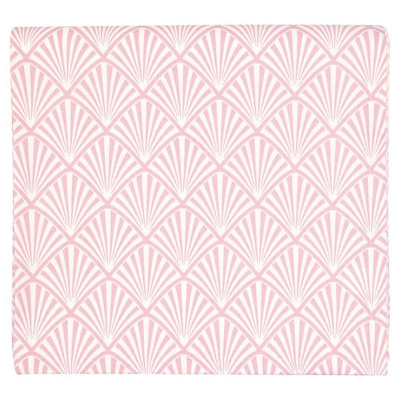 Gate Noir Tischdecke Jacquard Celine Pale Pink Greengate Tischtuch Baumwolle rosa 145x250