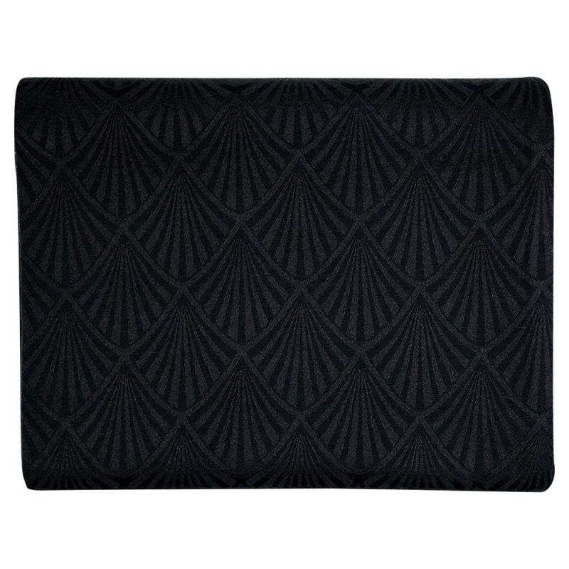 Gate Noir Tischdecke Jacquard Celine schwarz Greengate Tischtuch Baumwolle 150x250