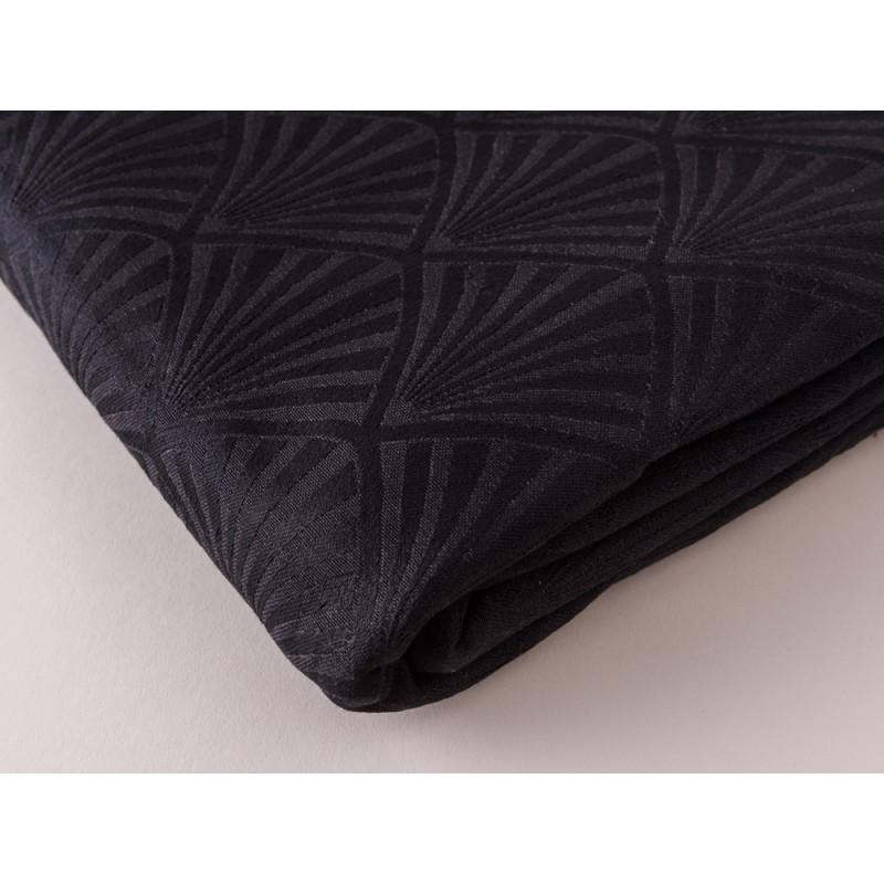 Gate Noir Tischdecke Tischläufer Jacquard Celine schwarz Greengate Tischtuch Material und Muster im Detail