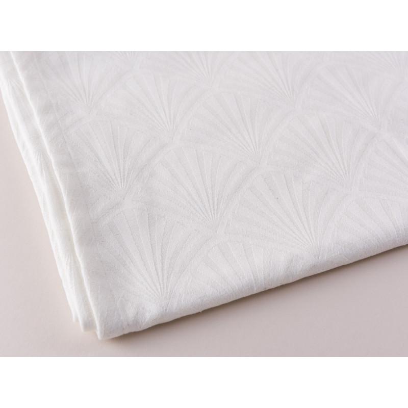 Gate Noir Tischläufer Jacquard Celine Weiß Greengate Tischtuch Material und Muster im Detail