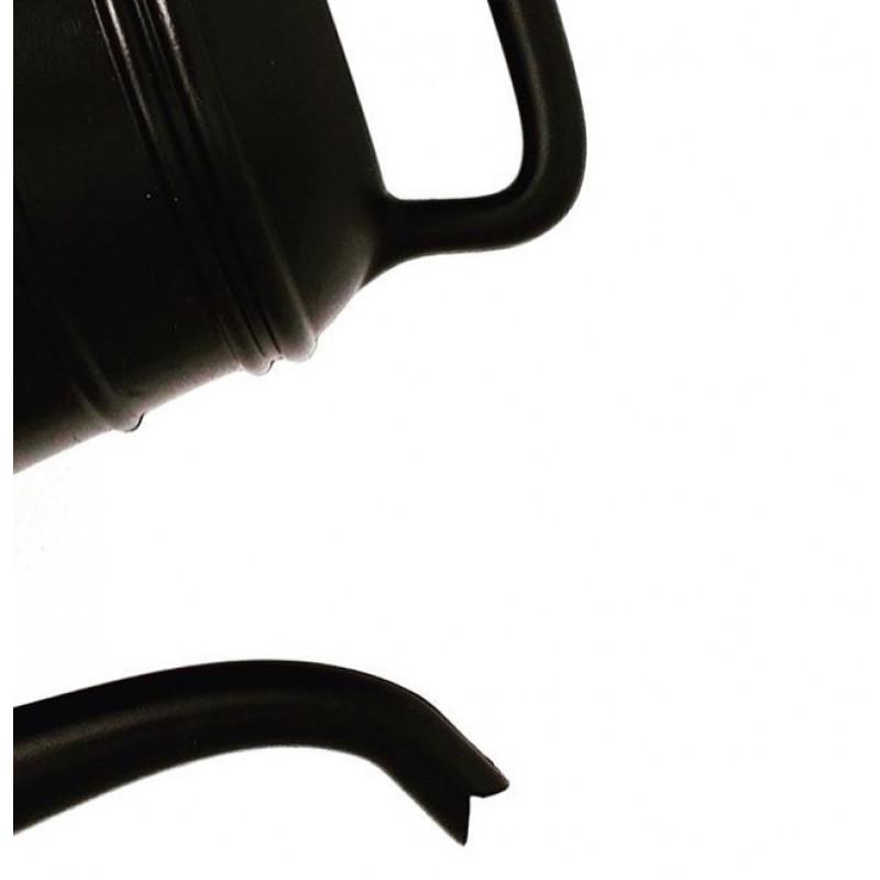 Gießkanne Lungo schwarz fuer 12 Liter aus Kunststoff von Xala Detailfoto Griff und Ausgießer