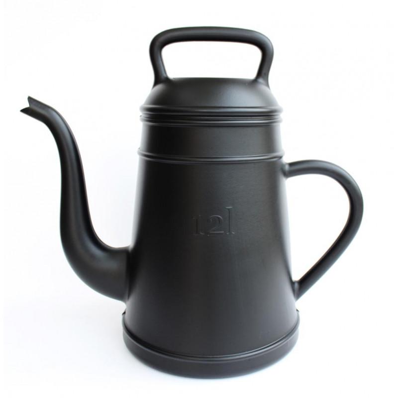 Giesskanne Lungo schwarz für 12 Liter aus Kunststoff von Xala