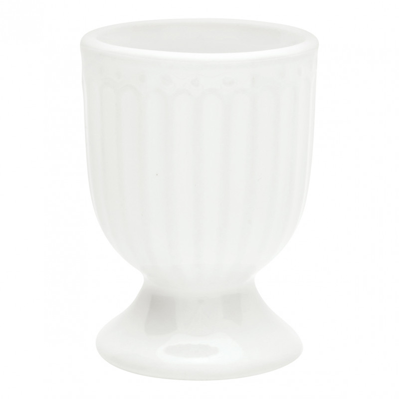 Greengate Eierbecher ALICE Weiß Everyday Geschirr White 40ml Greengate Produkt Nr STWEGGAALI0112
