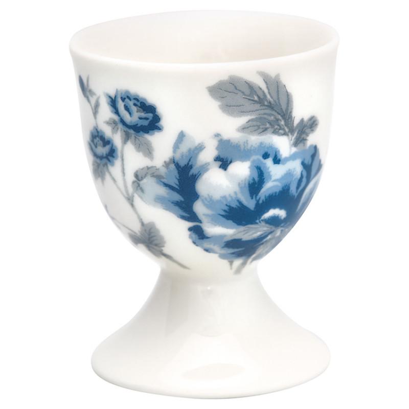 Greengate Eierbecher CHARLOTTE Weiss Blau mit Blumen GG Prrodukt Nr STWEGCCHL0106