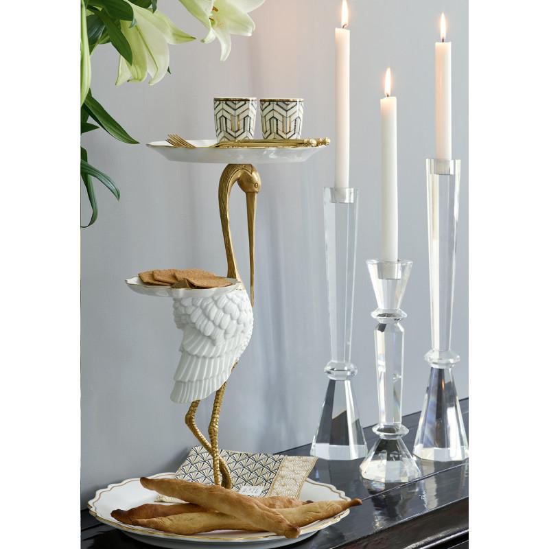 Greengate Espresso Tasse Madie gold weiß Kerzenleuchter Kristallglas Servietten Celine Besteck Gate Noir gold