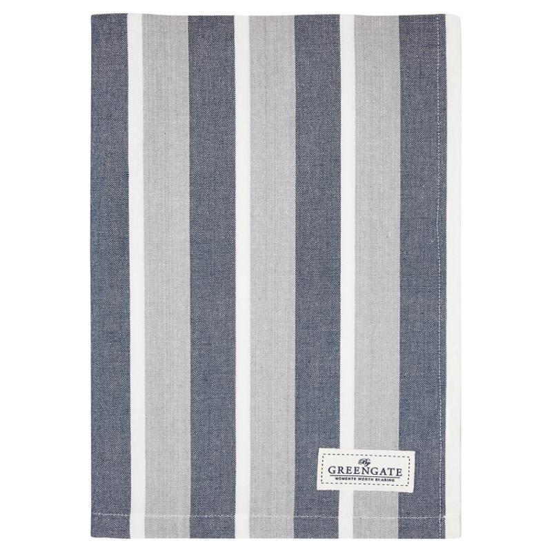 Greengate Geschirrtuch ALYSSA Blau Grau Streifen Baumwolle 50x70 GG Produkt Nr COTTEAALY2512