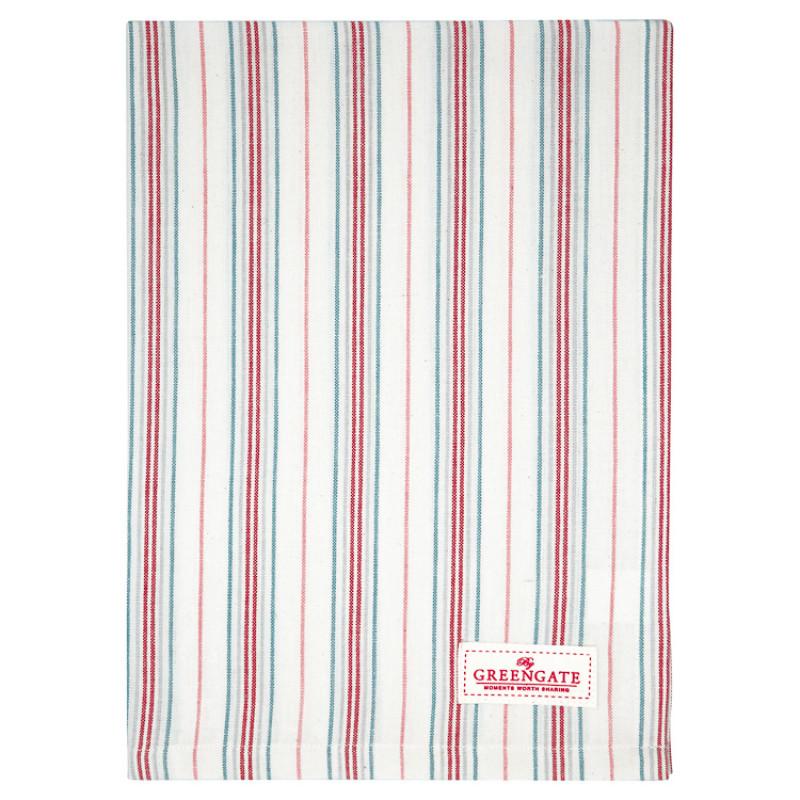 Greengate Geschirrtuch BETSY Weiss Rot Gestreift Baumwolle 50x70 GG Produkt Nr COTTEABSY0112