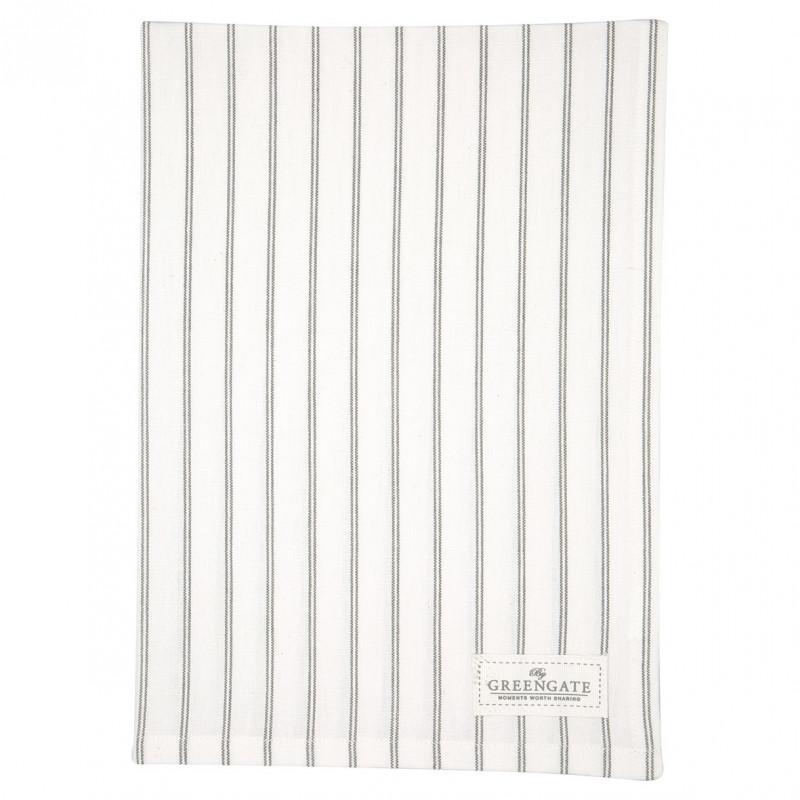 Greengate Geschirrtuch KAJSA Weiß mit Streifen Geschirrhandtuch aus Baumwolle 50x70 cm gestreift Greengate Produkt Nummer COTTEAKAJ0112