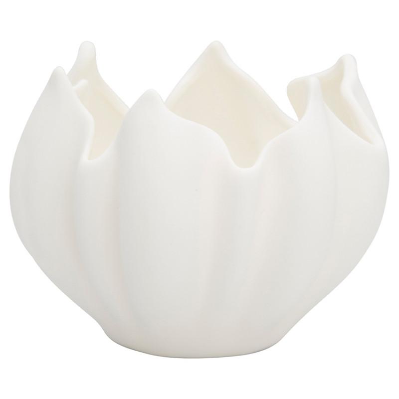 Greengate Kerzenhalter TULIP Pot Weiss Keramik Schale Tulpen Form GG Produkt Nr CERPOTSTLP0104