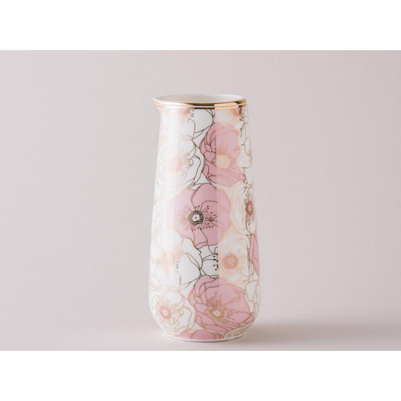 Greengate Krug Gate Noir Flori Pale Pink mit Blumen rosa 0,4 Liter