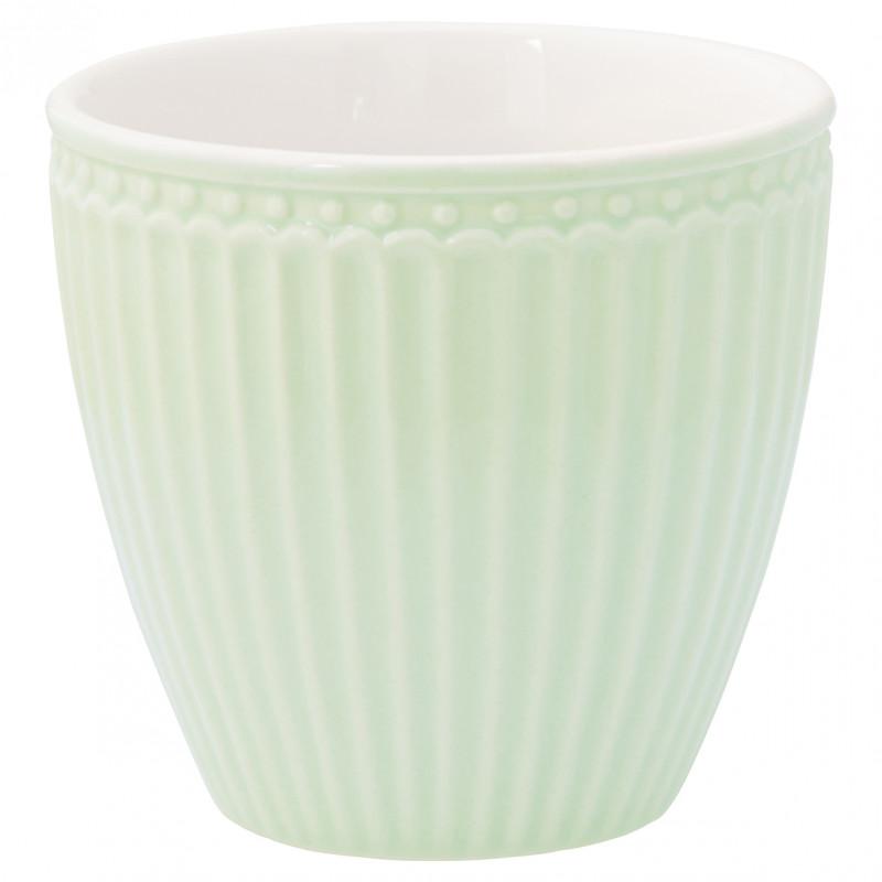 Greengate Latte Cup ALICE Grün Kaffee Becher Everyday Geschirr Pale Green 300 ml Greengate Produkt Nr STWLATALI3906