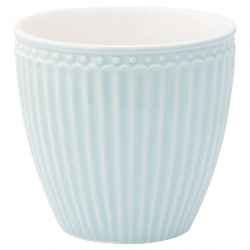 Greengate Latte Cup ALICE Hellblau Kaffee Becher Everyday Geschirr Kollektion Pale Blue 300ml Greengate Produkt Nr STWLATALI2906