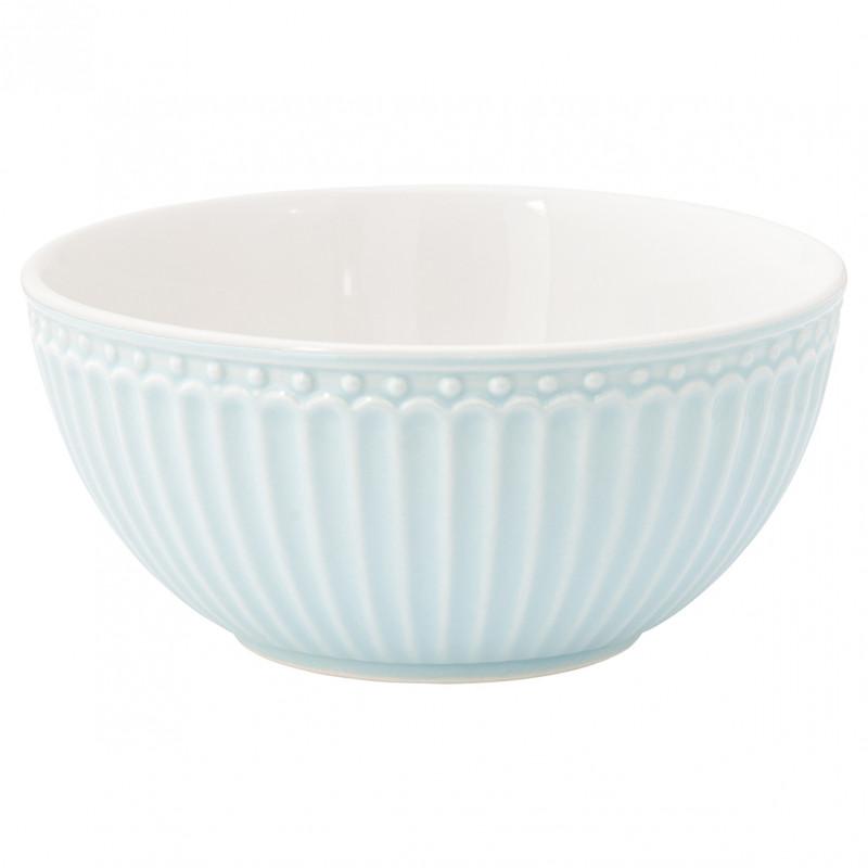Greengate Schale ALICE Hellblau Müslischale Everyday Geschirr Kollektion Pale Blue 450ml Greengate Produkt Nr STWBOWALI2906