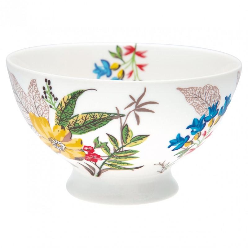 Greengate Schale ELLEN Weiß aus Porzellan mit Blumen 500ml Suppenschale Greengate Produkt Nummer STWSOUELE0106