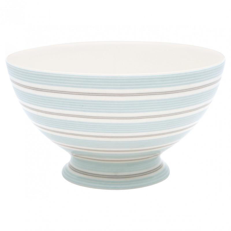 Greengate Schale TOVA Blau Weiß Streifen aus Porzellan 500ml Suppenschale Greengate Produkt Nummer STWSOUTOV2906