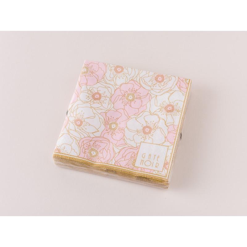 Greengate Servietten Flori Pale Pink Rosa Gate Noir Papierservietten