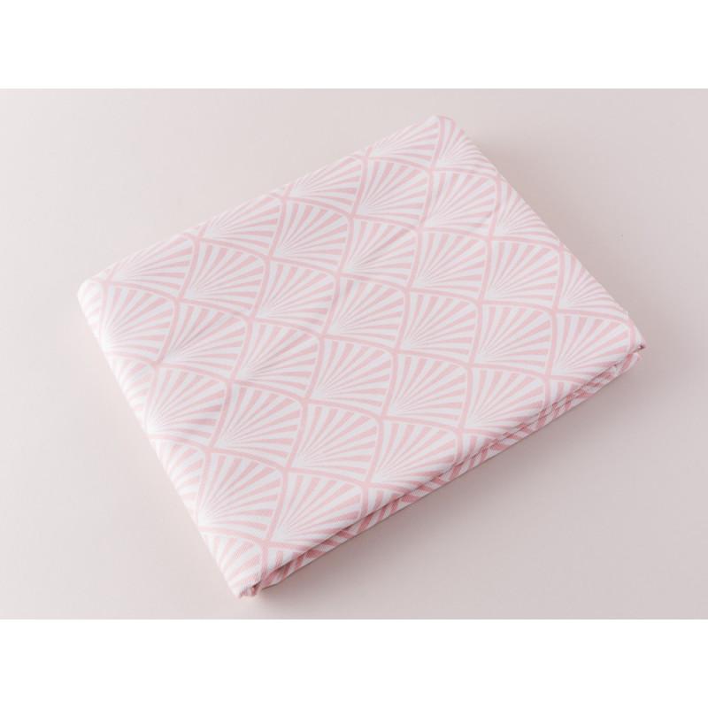 Greengate Tischdecke Gate Noir Celine Rosa Tischtuch aus Baumwolle im Art Deko Design pink weiß