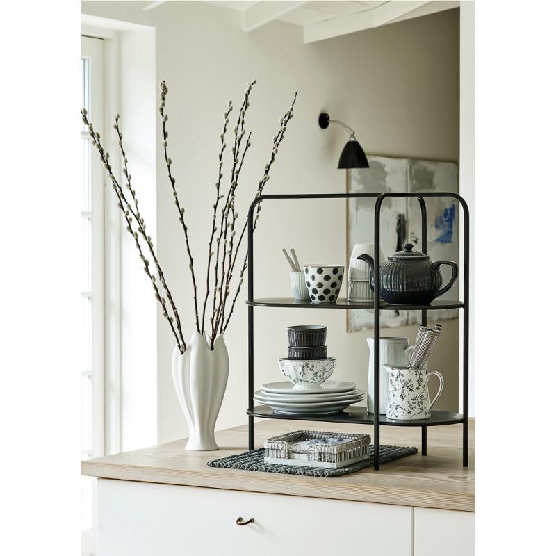 Greengate TULIP Vase Gross Weiss aus Keramik Blumenvase in Tulpen Form mit SAVANNAH und AMIRA Porzellan Geschirr