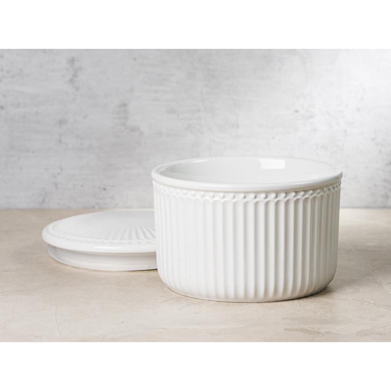 Greengate Vorratsdose Alice Dose mit Deckel Weiss Klein 13x9 cm 1250 ml Everyday Keramik White