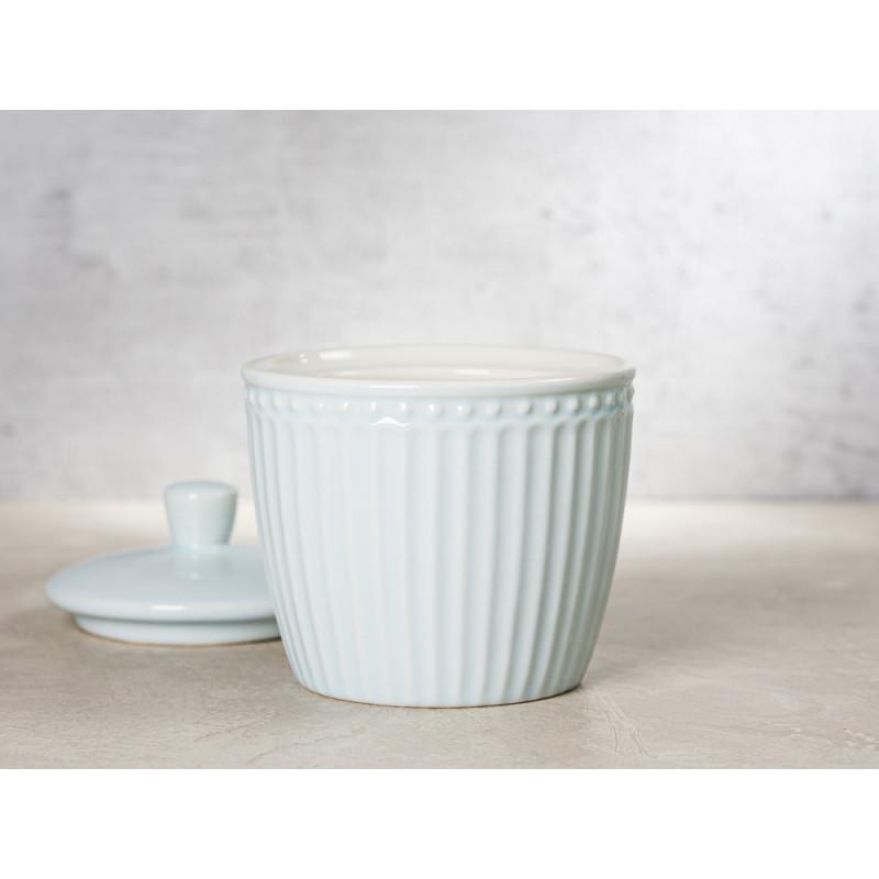 Greengate Zuckerdose mit Deckel ALICE Hellblau Everyday Keramik Geschirr