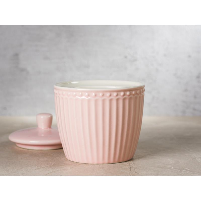 Greengate Zuckerdose mit Deckel ALICE Rosa Everyday Keramik Geschirr