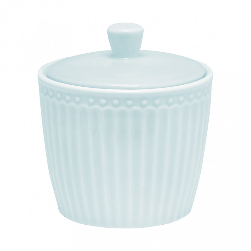 Greengate Zuckertopf ALICE Hellblau Everyday Geschirr Pale Blue Sugar Pot Blau Greengate Produkt Nr STWSUGAALI2906